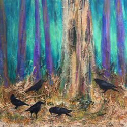 Crows, party of Five by Liz Simpson